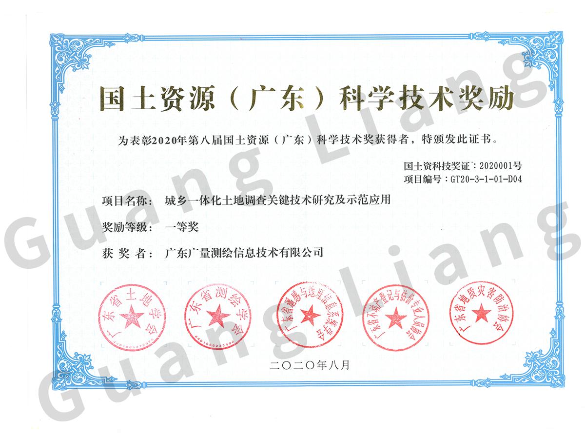 国土资源科学技术奖
