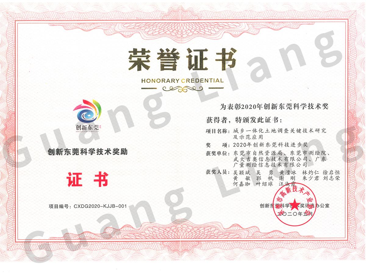 创新东莞科学技术奖